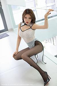 [MyGirl美媛馆]浴室黑丝美女黄楽然大尺度美胸秀NO.347