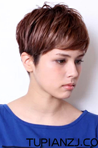 男性短斜庞克个性发型