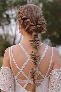 女性时尚发型辫子多种梳法 上篇