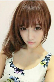 时尚且简单的中短发发型塑造可爱甜美女生图片