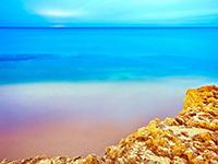 梦中的象牙塔之海天一色自然风光美景唯美壁纸