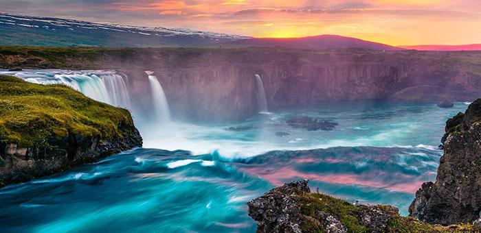 令人神往的大自然景观壮观的瀑布风景唯美壁纸
