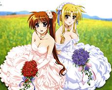穿婚纱的动漫美女娇艳动人心生向往图片