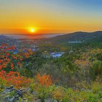落日的夕阳唯美沙漠风景图片